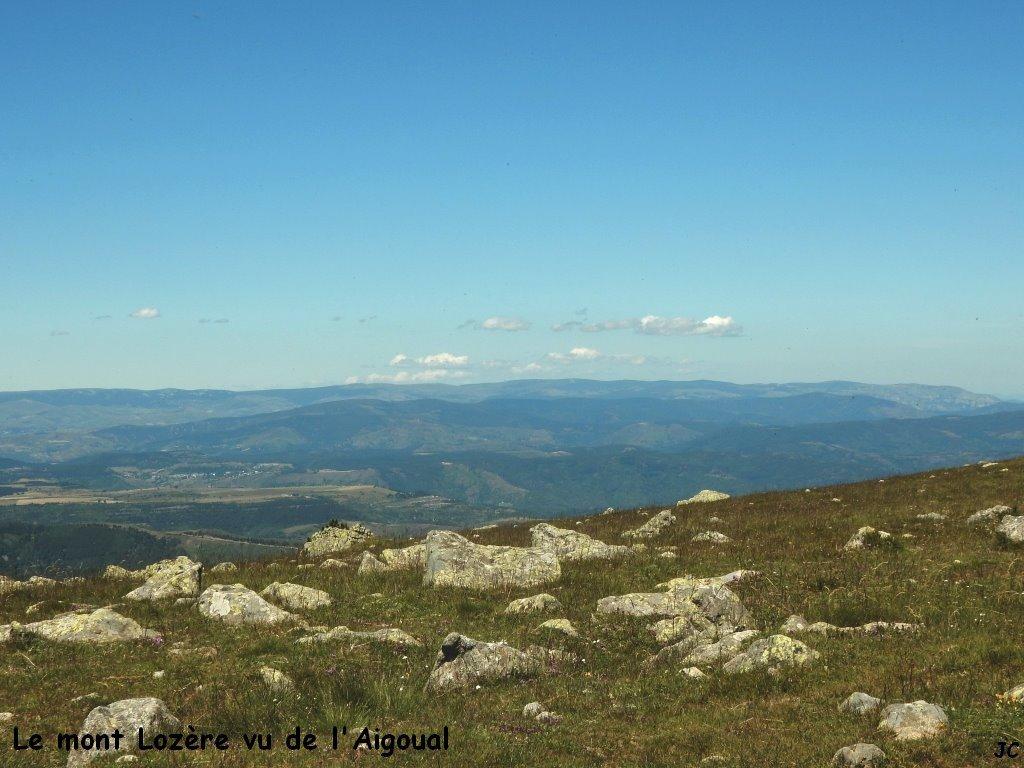 Le mont Lozère vu de l'Aiguoual
