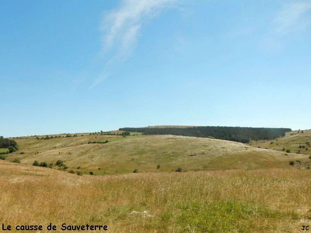 paysage typique du causse de Sauveterre