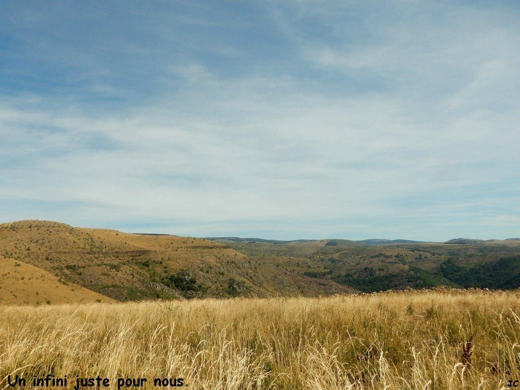 Le paysage de notre rando