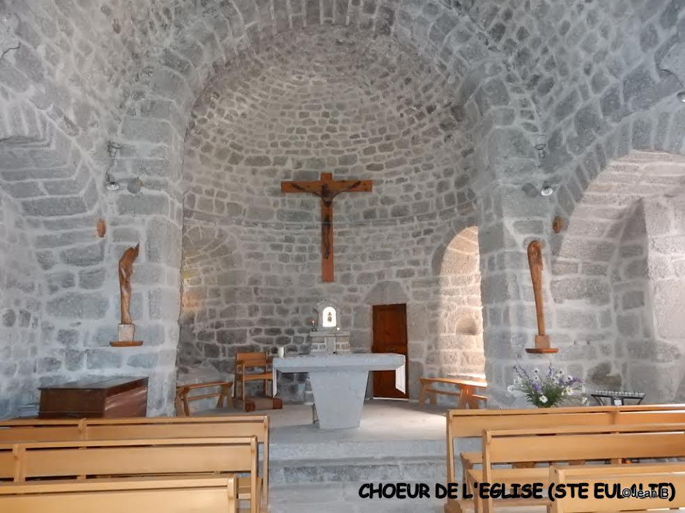 CHOEUR DE L'EGLISE (STE EULALIE)